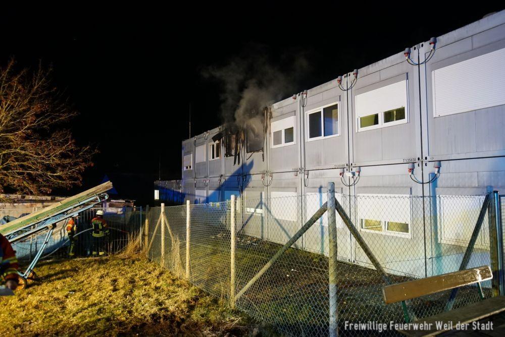 Brandeinsatz in einer Unterkunft