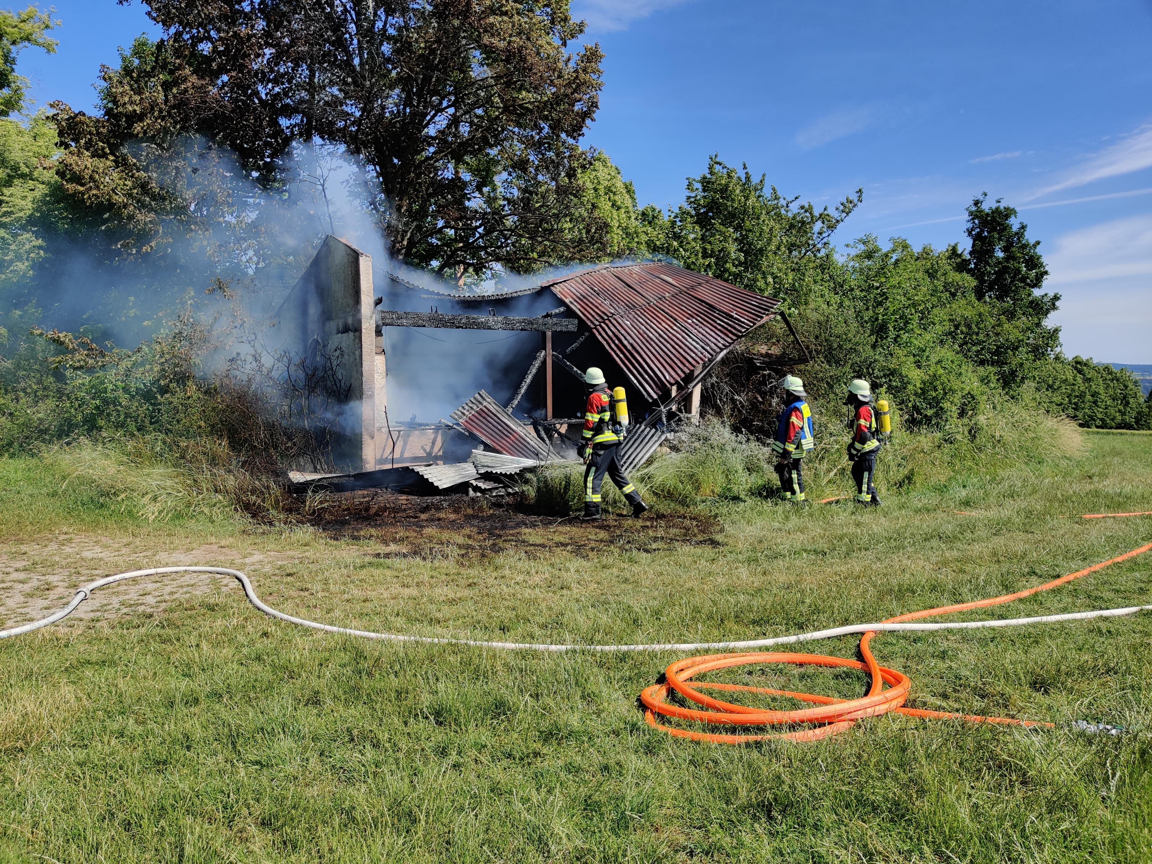 Brennende Hütte